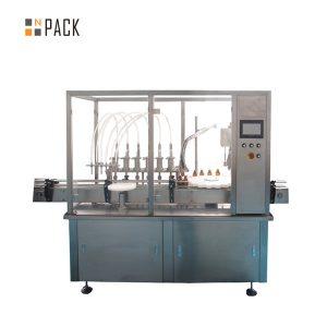 30 ml-es kis palacktöltő lezáró és címkéző gép