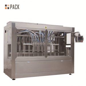 Automatikus 8 töltőfúvóka folyadék / paszta / szósz / méz töltőgép