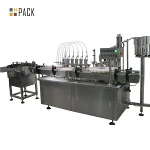 10ml szemcsepp-kitöltő kupakoló és címkéző gép